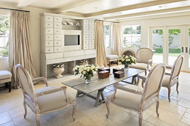 Rustic Living Room by Palm Design Group
