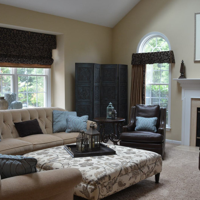 Manalapan Eclectic Family Room