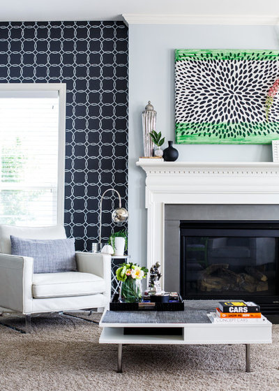 Transitional Living Room by Mimi Wilson - MW Design Group