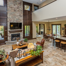 Transitional Living Room by Ironwood Homes