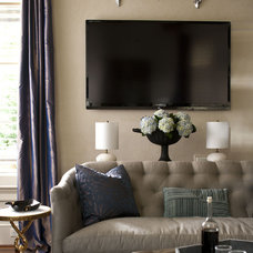 Transitional Living Room by Heather Garrett Design