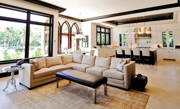 Transitional Living Room by tuthill architecture