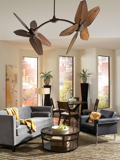 mid sized ceiling fans living room design ideas renovations photos