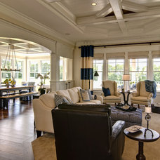 Traditional Living Room by Farinelli Construction Inc