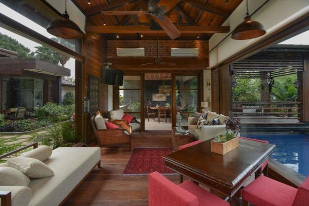 Contemporary Living Room by Monica Khanna Designs
