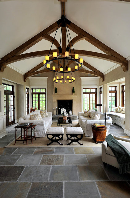 Traditional Living Room by Legacy Construction Northeast LLC