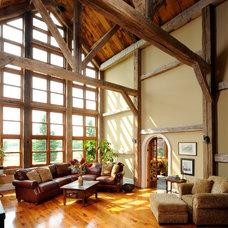 Farmhouse Living Room by Gordon Weima Design Builder