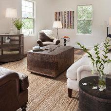Farmhouse Living Room by Bashford & Dale Interior Design