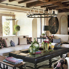 Mediterranean Family Room by Pal + Smith