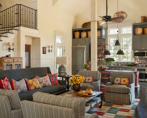 farmhouse living room houzz