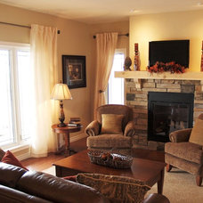Farmhouse Living Room by Quality Homes