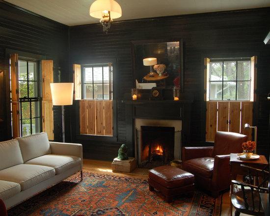 Farmhouse Living Room Houzz - Farmhouse living room
