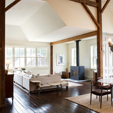 Farmhouse Living Room by Ann Clark Architects LLC