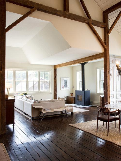 Farmhouse Chicago Living Room Design Ideas Remodels Photos Houzz