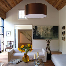 Farmhouse Living Room by SchappacherWhite Architecture D.P.C.