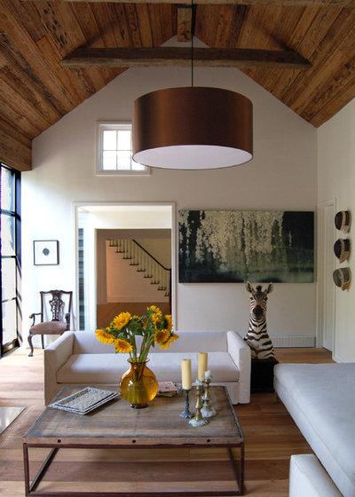 Farmhouse Living Room by SchappacherWhite Architecture D.P.C.