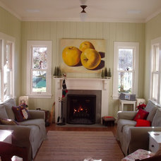 Traditional Living Room by Sortun-Vos Architects, P.S.