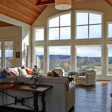 Farmhouse Living Room by Yorkville Design Centre