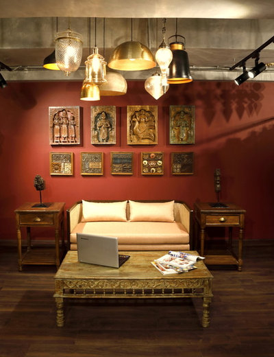 Indian Family Room by INC Design Studio