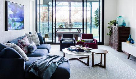 Room of the Week: A Sophisticated, Richly Coloured Living Room