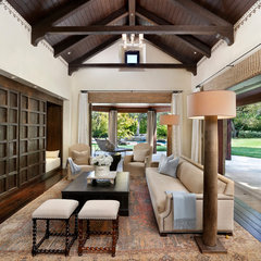 traditional family room by Pacific Peninsula Group
