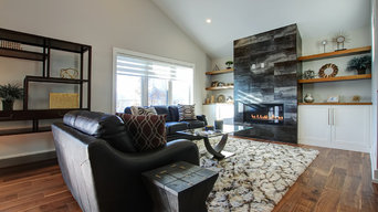 Feature Wall with Linear Fireplace | Thorold, Ontario