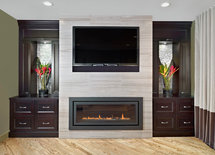 I like the fireplace feature. what kind of tile ?