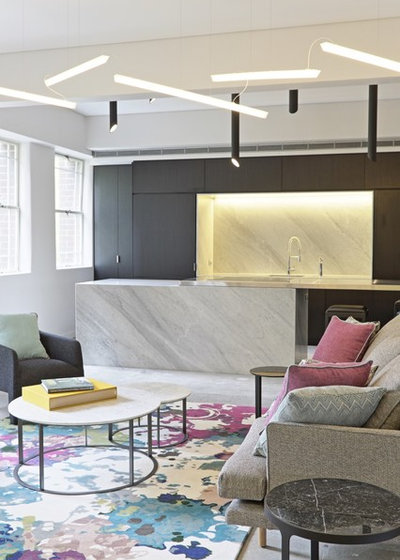 Contemporary Living Room by Tappeti Hand Crafted Rugs and Carpets