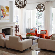 Transitional Living Room by Soco Interiors
