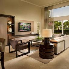Contemporary Living Room by b+g design inc.