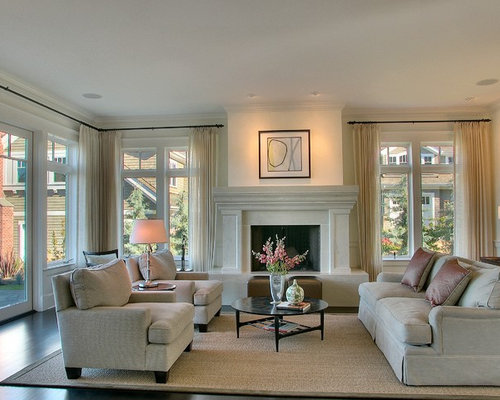 Inspiration For A Large Contemporary Formal Living Room Remodel In Seattle With Standard Fireplace