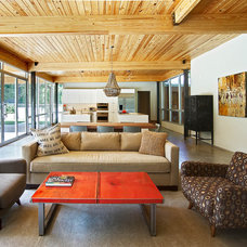 Modern Living Room by Louis Cherry, FAIA Architect