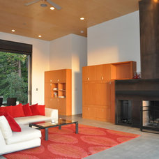 Contemporary Living Room by Fuse Architects, Inc.
