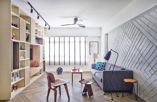 Retro Living Room by Fuse Concept Pte Ltd