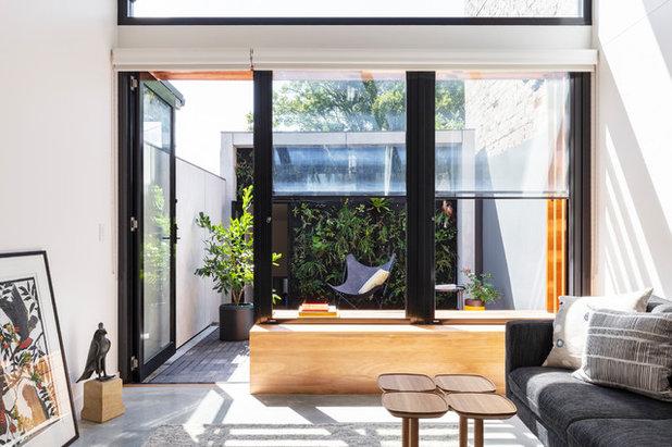 コンテンポラリー リビング by anderson architecture