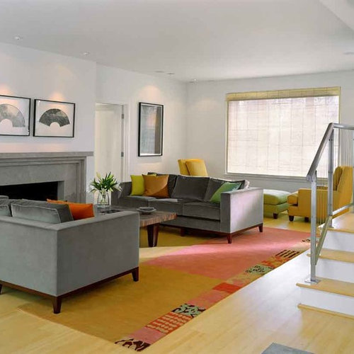 Trendy Living Room Photo In St Louis With A Standard Fireplace