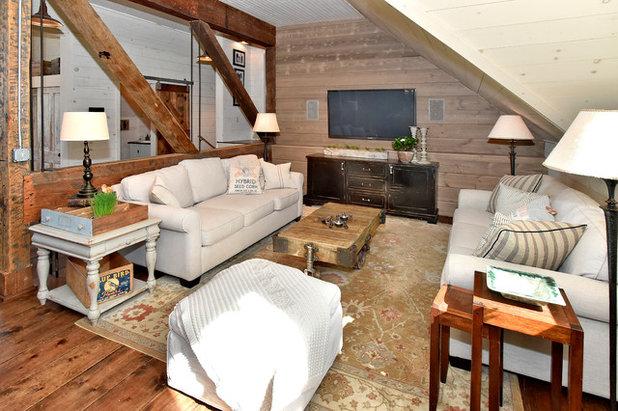 Rustic Living Room by Architectural Overflow, LLC