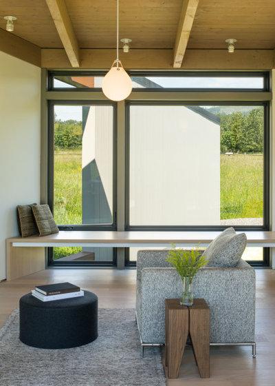 モダン リビング by David Coleman / Architecture