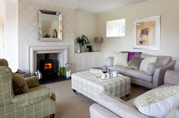 Transitional Living Room by Robertson Lindsay Interiors