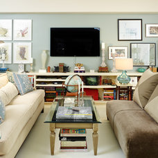 Eclectic Living Room by Right Meets Left Design LLC