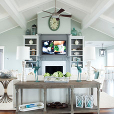 Beach Style Living Room by Amy Tyndall Design