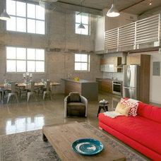 Industrial Living Room by Danna B Interiors, LLC