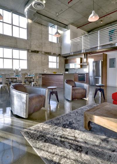 Industriel Salon by Danna B Interiors, LLC