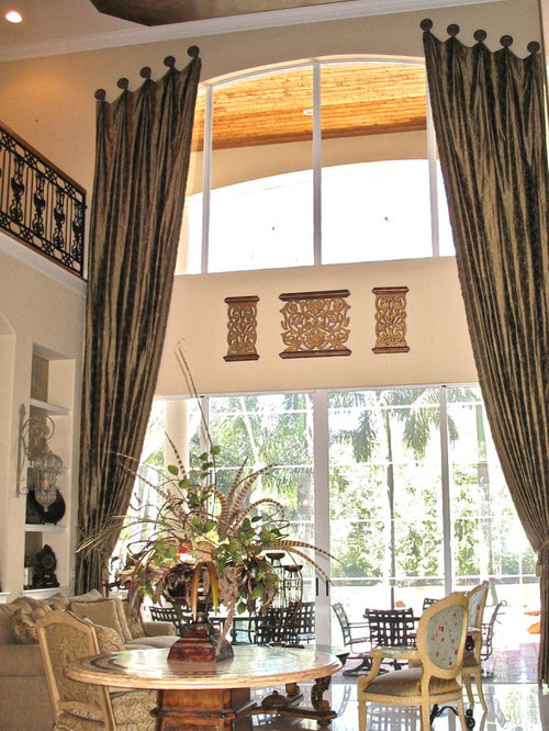Medallion Hung Drapes Home Design Ideas Pictures Remodel