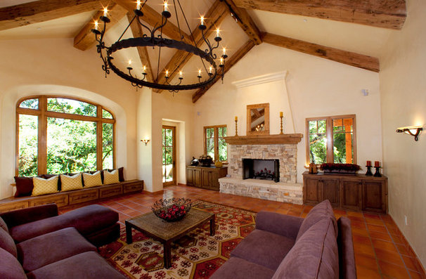 Mediterranean Living Room by McNamee Construction
