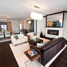 Transitional Living Room by Pavan Sandhu-Anderson