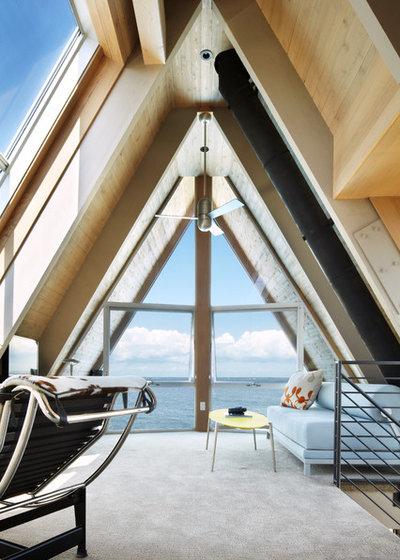 Contemporain Salon by Bromley Caldari Architects PC