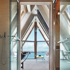 Beach Style Bathroom by Bromley Caldari Architects PC