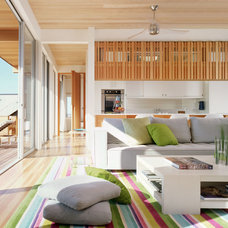 Beach Style Living Room by Peter Brotherton Architect, PC