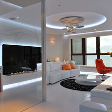 Modern Living Room by Planika Fires